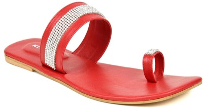 Kosher Klss024-Red Women Red Flats