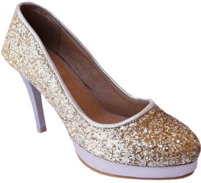 MadeinMyIndia Women Gold Heels