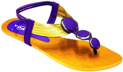 Vogue Party and Office Wear Women Purple Flats
