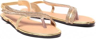 Ruby Stylish Women Gold Flats