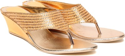 Lovely Chick Women Gold Wedges