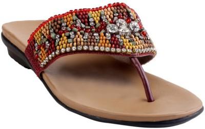 GLAMWALK Women Maroon Heels