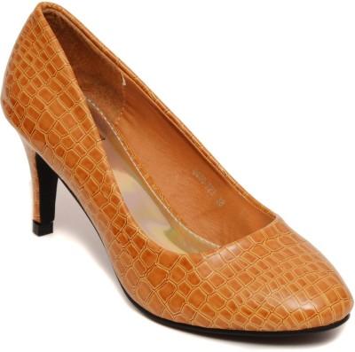 Flat n Heels Women Tan Heels