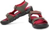 High Sierra Men Red Grey Sandals