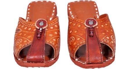 Jaipuriyaa Women Brown Flats
