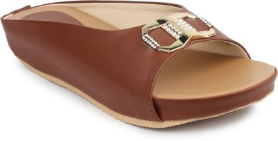 Cobbler,s Thread Women Tan Flats