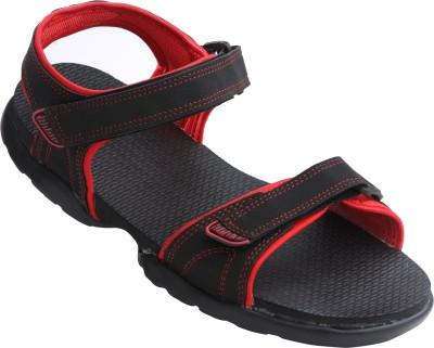 VKC 2306 Men Black, Red Sandals