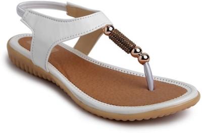 JIPSI Women White Flats