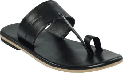 Shoe Bazar Leather Men Black Sandals