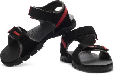 Sparx Men Black, Red, Grey Sandals