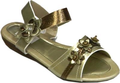 SuperGirl Girls Gold Sandals