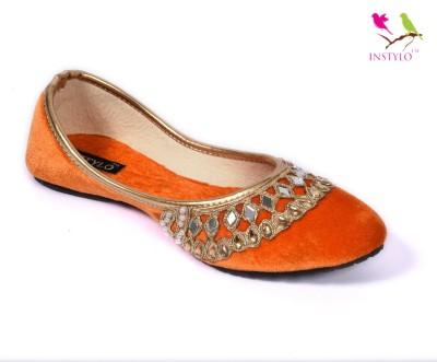 Instylo Girls Orange Flats