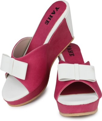 Yahe Women Pink Wedges