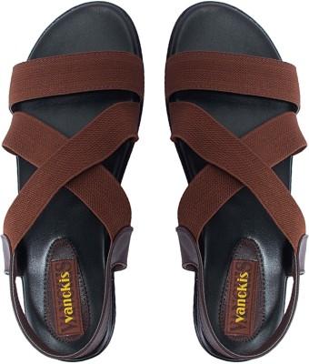 Vanckis Men Brown Sandals