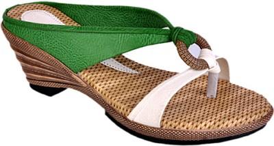 Jolly Jolla PU Choice Women Green, White Wedges
