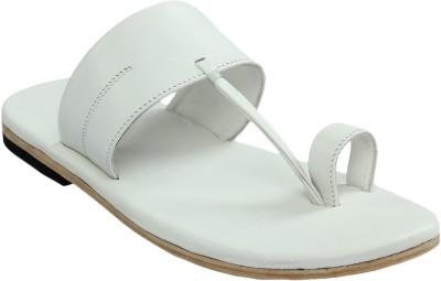 Shoe Bazar Leather Men White Sandals