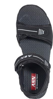 ASN Eplblk Women Black Sports Sandals