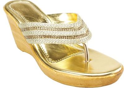 Hansfootnfit Women Gold Wedges