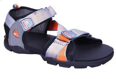 Sparx Men Grey, Orange Sandals