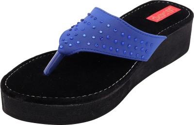 Footrendz Women Blue Wedges