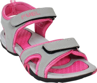 Fuel Women Grey, Pink Sports Sandals