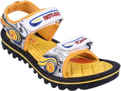 Hot Dog Boys, Girls Yellow Sandals