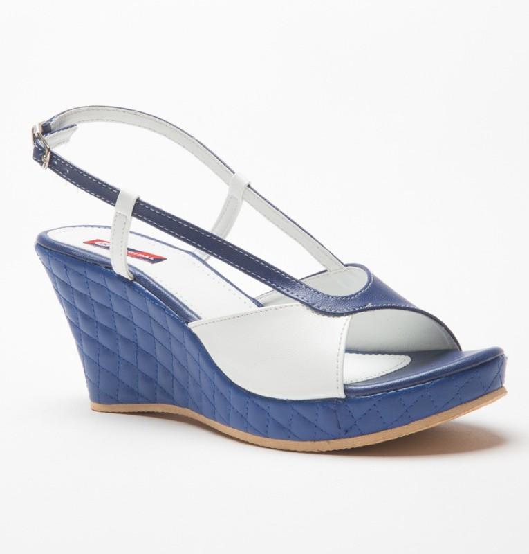 American Swan Women Blue Wedges