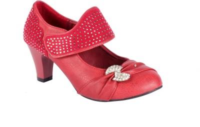 Trilokani Wedding Queen Women Red Heels
