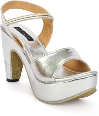 Funku Fashion Women Silver, Silver Heels
