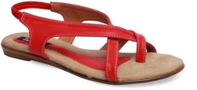 La Zilver Women Red Flats