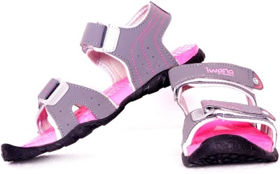 Goldstar Women Grey, Pink Sports Sandals