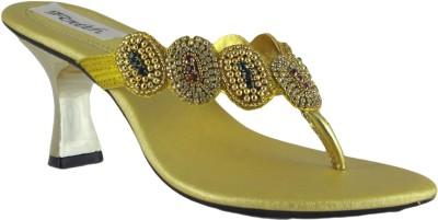 Faith 1000121 Women Gold Heels low price