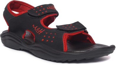 M&H Men Black, Red Sandals