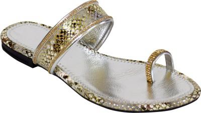 Stepee Women Silver Flats