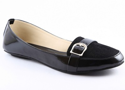 Cenizas Dual Loafer Women Black Flats