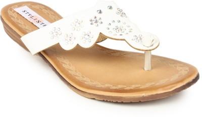Stylistry Women White Flats