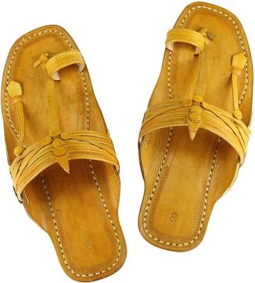 eKolhapuri Men Yellow Sandals