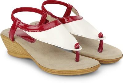 CSBS Sale Women White, Maroon Heels