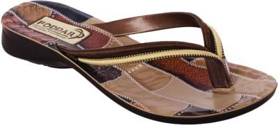 Poddar Women Brown Flats