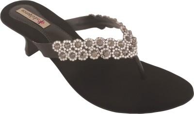 Indulgence Dazzling Diva Ethnic Women Black Heels