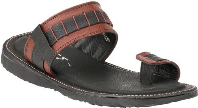 Jacs Shoes Men Maroon Sandals