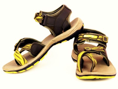 TOUCHWOOD Men Brown, Green Sandals