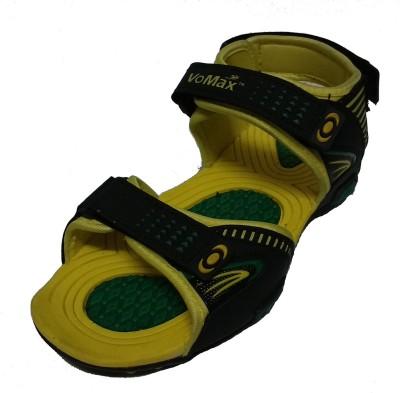 VoMax Men Black, Yellow Sandals