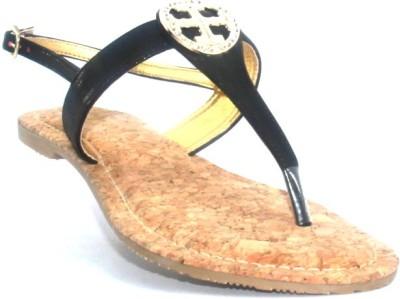 PAWAR Women Black Flats