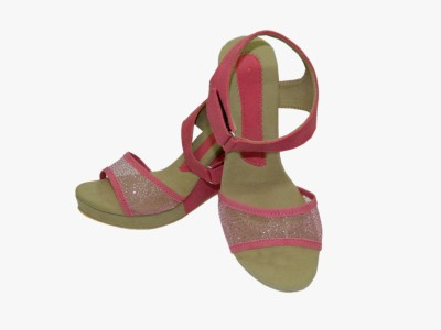Heels And Toes Women Pink Wedges