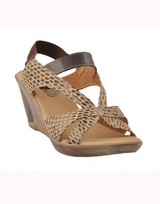 Senso Vegetarian Shoes Women Beige Wedges