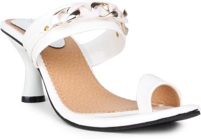 Shoetopia Women White Heels