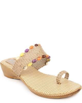 Cute Feet Women Brown Wedges