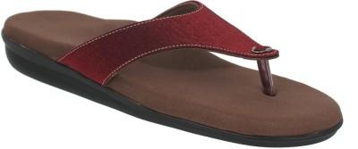 Dia One Diabetic Footwear Women Maroon Flats