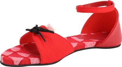 Paaduks Women, Girls Red Flats